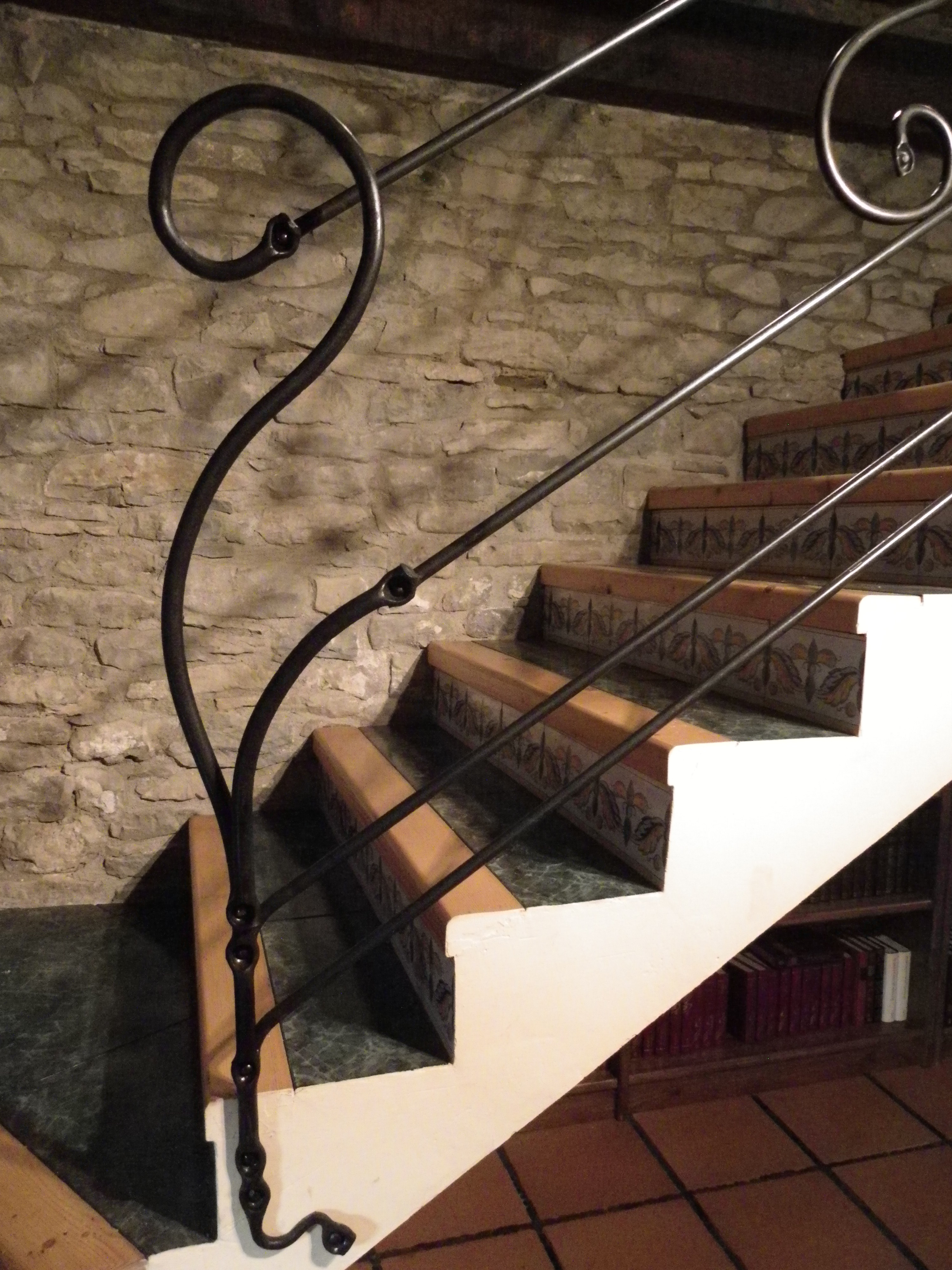 Barandilla forjada la fragua del pirineo - Barandillas de escaleras ...